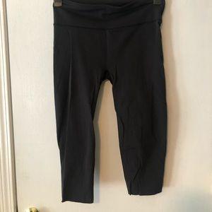 Black Lululemon cutout leggings. Size L